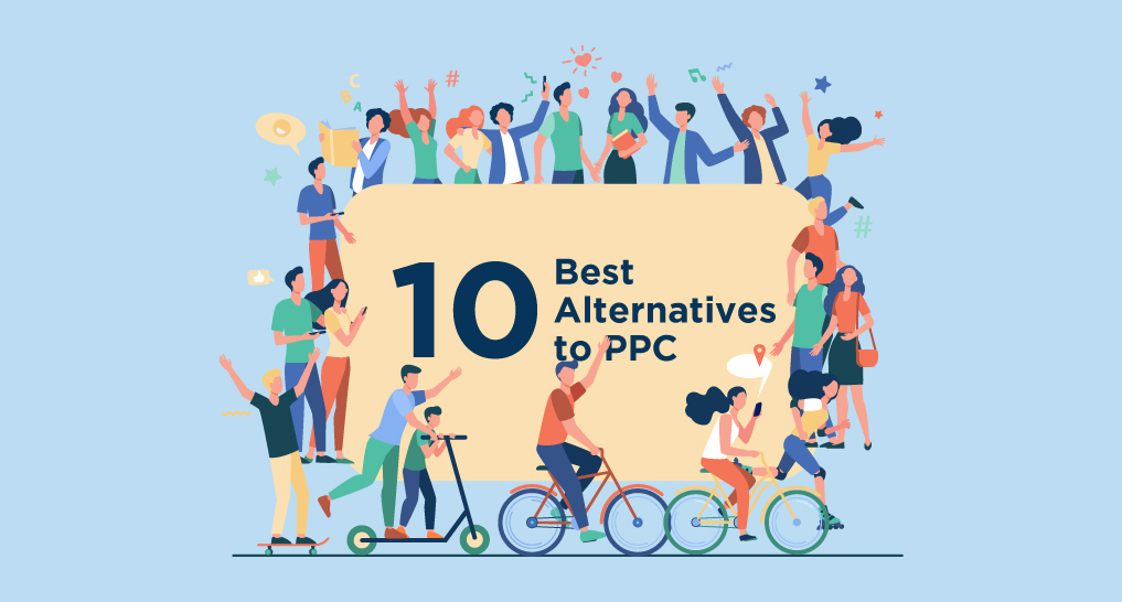 10 best alternatives to pay-per-click with lots of people gathered around