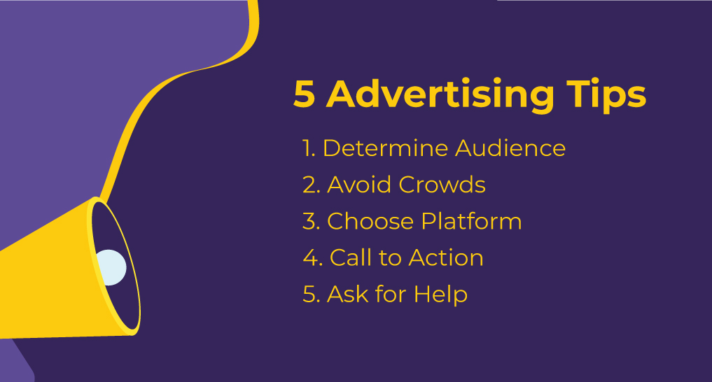list of 5 advertising tips for businesses