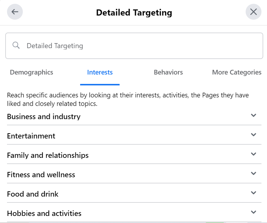 Detailed Targeting Options for Social Media Marketing