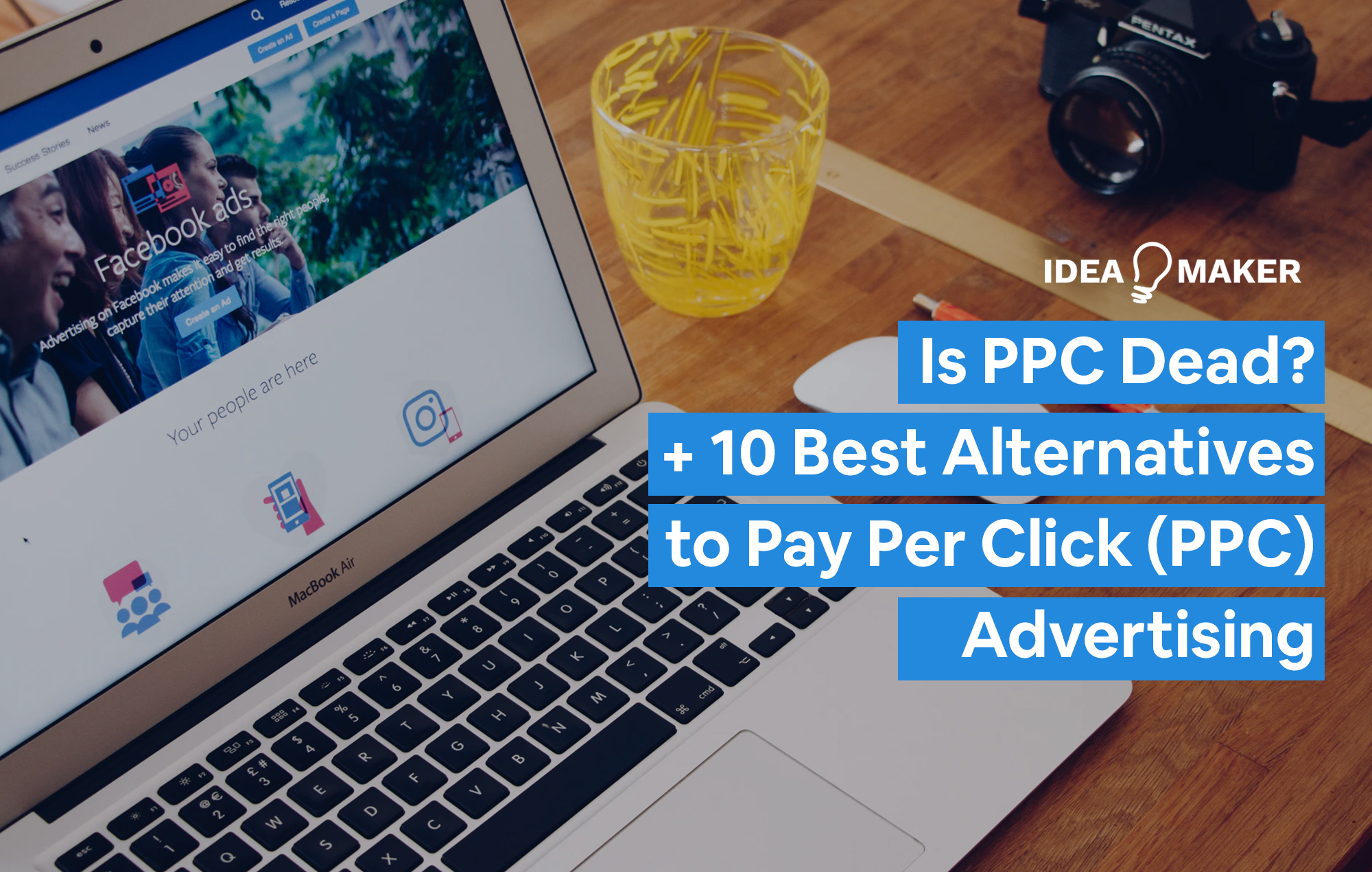 "A computer with an ad on it to show the topic of the post is ""Is PPC Dead"""