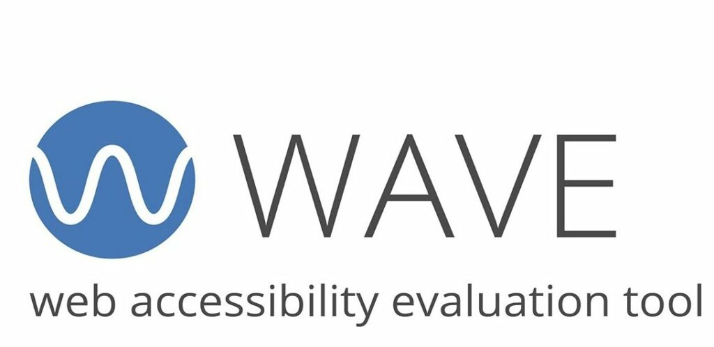 WAVE web accessibility evaluation tool, shows the name and logo of the WAVE tool to help a website become more ADA compliant